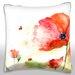 Maxwell Dickson Red Tender Flower Throw Pillow