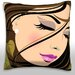 Maxwell Dickson Portrait of Woman with Eyes Closed Throw Pillow