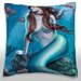Maxwell Dickson Mermaid Siren in The Sea Throw Pillow