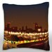 Maxwell Dickson Bright City on a Lake Throw Pillow