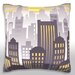 <strong>Sunset Over Downtown City Skyline Throw Pillow</strong> by Maxwell Dickson