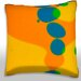 Maxwell Dickson Colorful Liquid Bubbles Throw Pillow