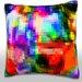Maxwell Dickson Abstract Textured Illustration Throw Pillow