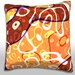 Maxwell Dickson Colorful Retro Art Deco Pattern Throw Pillow