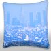Maxwell Dickson Los Angeles Haze and Smog Downtown Throw Pillow