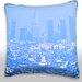 Maxwell Dickson Los Angeles Haze and Smog Downtown Throw Pillow