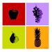 "<strong>Maxwell Dickson</strong> 4 Piece ""Fruits"" Graphic Art on Canvas"