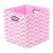 <strong>Modern Littles</strong> Rose Zig Zag Folding Storage Bin