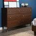 South Shore Olly Mid-Century Modern 6 Drawer Dresser