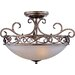 "Hampton 13"" 3 Light Semi Flush Mount"