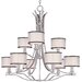 <strong>Wildon Home ®</strong> Southstream 9 - Light Multi - Tier Chandelier