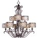 <strong>Wildon Home ®</strong> Timbora 9 - Light Multi - Tier Chandelier