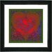 "<strong>Studio Works Modern</strong> ""Filigree Heart"" by Zhee Singer Framed Giclee Print Fine Art in Red"