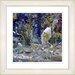 """Studio Works Modern """"Water Bird"""" by Zhee Singer Framed Giclee Print Fine Art in Blue"""