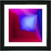 "<strong>Studio Works Modern</strong> ""Mind Box"" by Zhee Singer Framed Giclee Print Fine Art in Blue and Red"