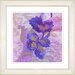 "<strong>Studio Works Modern</strong> ""Sophia Flower"" by Zhee Singer Framed Giclee Print Fine Art in Purple"