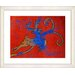 "<strong>Studio Works Modern</strong> ""Reindeer - Red"" by Zhee Singer Framed Fine Art Giclee Print"