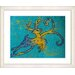 "<strong>""Reindeer - Turquoise"" by Zhee Singer Framed Fine Art Giclee Print</strong> by Studio Works Modern"