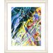 "<strong>Studio Works Modern</strong> ""Right as Rain - Blue"" by Zhee Singer Framed Fine Art Giclee Print"