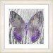 """Studio Works Modern """"Dusk Butterfly - Purple"""" by Zhee Singer Framed Fine Art Giclee Print"""