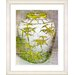 "<strong>Studio Works Modern</strong> ""Bamboo Urn - Yellow"" by Zhee Singer Framed Fine Art Giclee Print"