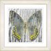 "Studio Works Modern ""Dusk Butterfly - Yellow"" by Zhee Singer Framed Fine Art Giclee Print"