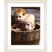 """<strong>""""Brothers in a Tub"""" by Mia Singer Framed Fine Art Giclee Print</strong> by Studio Works Modern"""