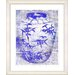 "<strong>""Bamboo Urn - Blue"" by Zhee Singer Framed Fine Art Giclee Print</strong> by Studio Works Modern"