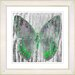 "<strong>""Dusk Butterfly - Green"" by Zhee Singer Framed Fine Art Giclee Print</strong> by Studio Works Modern"