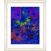 "<strong>Studio Works Modern</strong> ""Blue Abstract Daisies - Green"" by Zhee Singer Framed Fine Art Giclee Print"