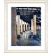 "<strong>Studio Works Modern</strong> ""Rainy Pillared Walkway"" by Mia Singer Framed Fine Art Giclee Print"