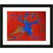 """Reindeer - Red"" by Zhee Singer Framed Fine Art Giclee Painting Print by Studio Works Modern"
