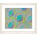 "<strong>Studio Works Modern</strong> ""Green Circle Series - Green"" by Zhee Singer Framed Fine Art Giclee Print"