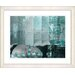 """<strong>""""Urban Puzzle - Turquoise"""" by Zhee Singer Framed Fine Art Giclee Print</strong> by Studio Works Modern"""