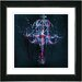 "<strong>Studio Works Modern</strong> ""Blue Chandelier"" by Zhee Singer Framed Graphic Art"
