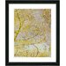 """Gold Flower Branches"" Framed Fine Art Giclee Print"