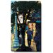 Studio Works Modern Evening Walk Gallery Wrapped by Zhee Singer Painting Print on Canvas