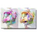 """Pastel Double Gordian"" Gallery Wrapped Canvas Wall Art"