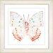 "Studio Works Modern ""White Butterfly"" by Zhee Singer Framed Graphic Art"