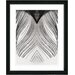 """White Feather"" Framed Fine Art Giclee Print"