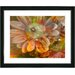 """Orange Glory Daisy Flower"" Framed Fine Art Giclee Print"
