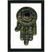 """Hamsa Hand of God"" Framed Fine Art Giclee Print"