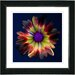 "Studio Works Modern ""Fire Flower"" by Zhee Singer Framed Fine Art Giclee Painting Print"