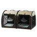 <strong>Double Fabric Portable Pet Crate/Carrier</strong> by One For Pets
