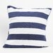 DEI Latitude 38 Nautical Stripe Cotton Pillow