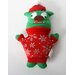 "Santa""s Lucky Dog ""Green Ugly Dog"" Holiday Plush Toy"