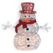 <strong>Brite Star</strong> Spun Glitter 100 Light Santa Silhouette Christmas Decoration