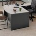 "<strong>ABCO</strong> Unity 72"" W 4 Drawer Double Pedestal Arc Executive Desk"