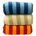 <strong>Luxury Printed Striped Micro Plush Blanket</strong> by LCM Home Fashions