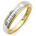 Men's Sterling Silver Round Cut Diamond Wedding Band